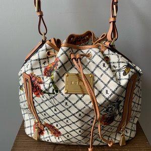 L.A.M.B. Marigold Broadgate Coated Leather Bag